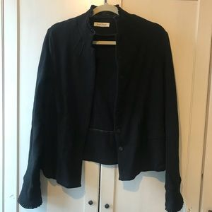 chic black jacket